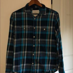 Blue plaid buttons down small Aeropostale